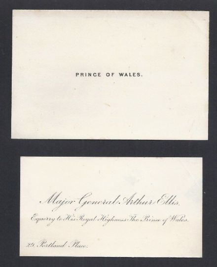 Prince of Wales later King Edward VII Antique Embossed Calling Card
